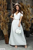 Красивое женское платье в пол на лето расклешенное от талии  арт. 199