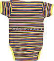 Дитяче літнє боді ріст 80 9-12 міс трикотажне інтерлок жовте на хлопчика дівчинку бодік з коротким рукавом для, фото 2