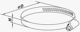 Хомут оцинкованный с гайкой D100мм H9мм, фото 2