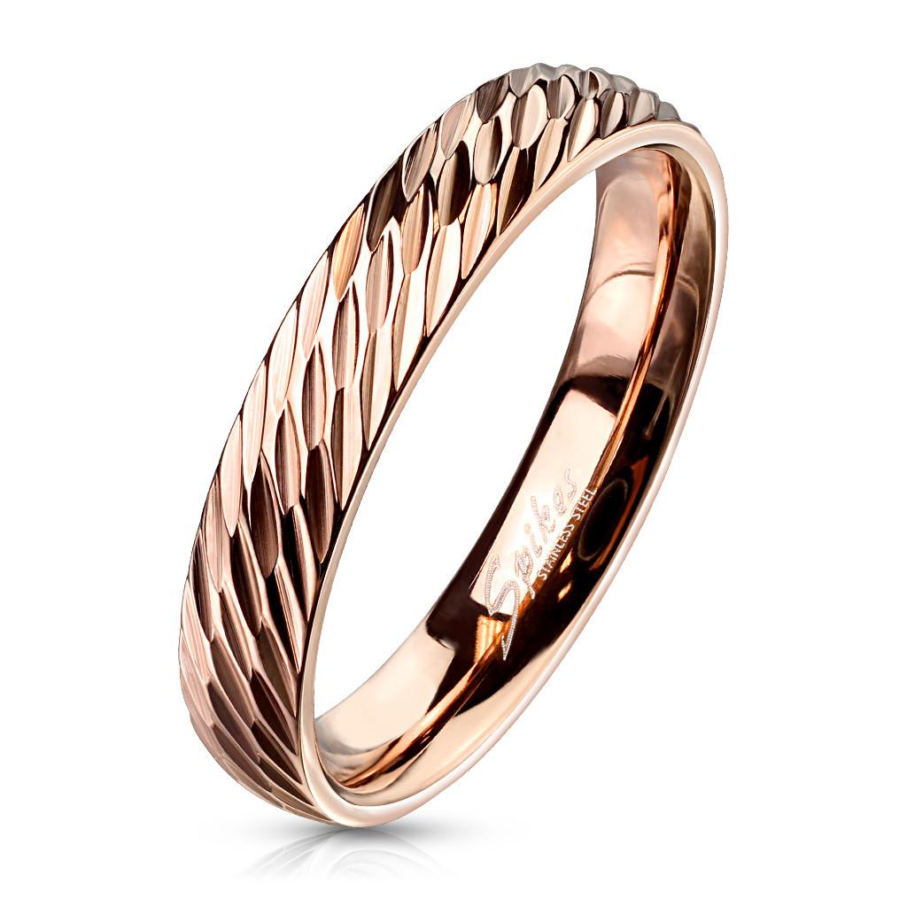 Обручальное кольцо нержавеющая сталь 316L Spikes