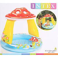 "Бассейн ""Грибок"" в коробке  102*89 см.   INTEX"