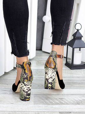 Жіночі замшеві туфлі рептилія, фото 2