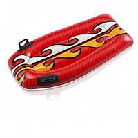 Детский надувной матрас-плотик Intex 58165 «Серфинг» от 3-х лет с ручками 112 x 62 см Красный