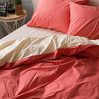 Комплект постельного белья Хлопковые Традиции Полуторный 155x215 Коралловый (PF09_полуторный)