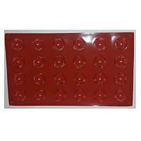 Форма силиконовая для выпечки кексов Полусфера Empire M-1219 + Бонус