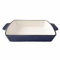 Форма чугунная, прямоугольная с ручками MAZHURA mzKJ30 30х21х6,2 см + Бонус