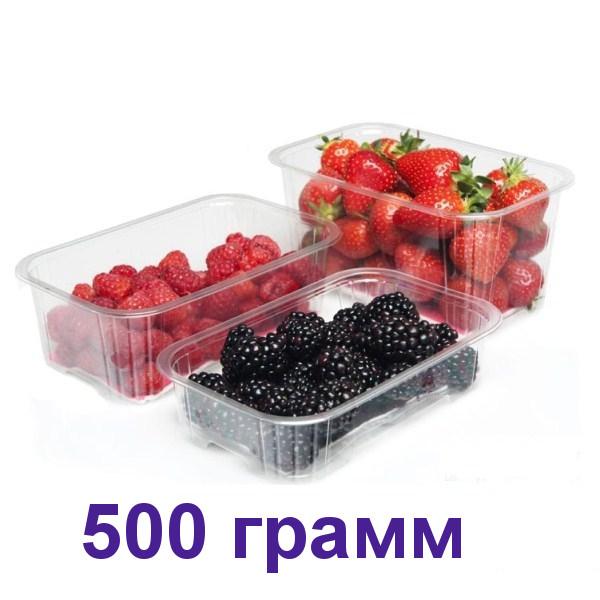 Пинетка для ягод с крышкой 500 грамм 600 шт.  Бесплатная Доставка!