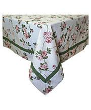 Скатертина на стіл Глорія квіти 136*136 см