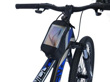 Велосипедная сумка на раму «штаны», с отделением для телефона