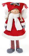 Мягкая новогодняя игрушка Ангел в шапке сова 52 см. (822-133)