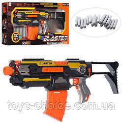 Детский Автомат Blaster SB409 работает от батареек с мягкими пулями 20 штук, 54см. Оранжевый PS