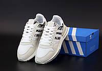 Мужские кроссовки Adidas ZX-500 RM OG Grey Camo (Адидас ЗХ серого цвета и вставками хаки) весна/лето