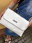 Стильная серебристая сумка - клатч, фото 2