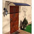 Навіс дашок для вхідних дверей Siker 900-S1 900х1600 мм, фото 2