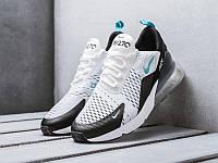 Мужские летние кроссовки Nike Air Max 270 White Black (Найк Аир Макс белые с черным)