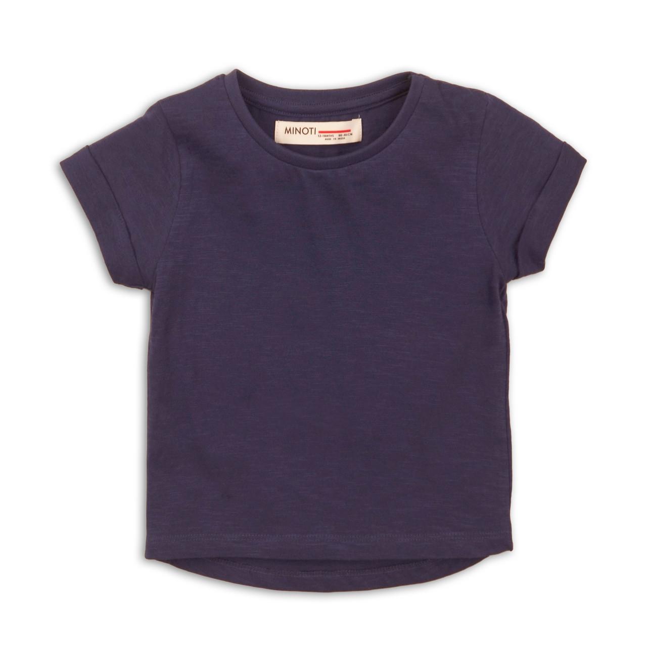 Детская футболка для девочки темно-синяя 1/3 года 74/98 см, Minoti, 74-80 см