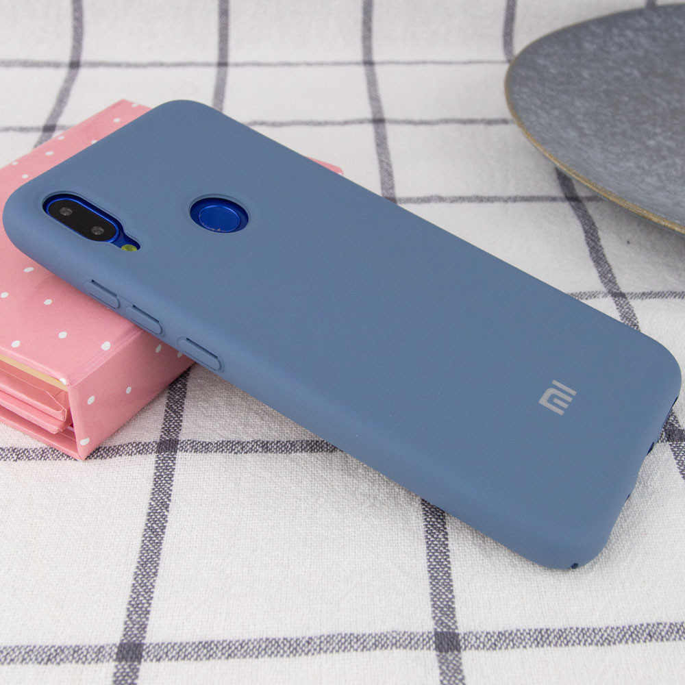 Чехол Silicone Cover Full Protective для Xiaomi Redmi Note 7 Серый
