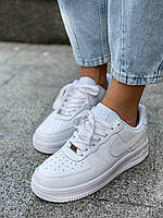 Белые кроссовки Найк Аир Форс низкие (Nike Air Force 1 Low White) мужские и женские размеры 36-47