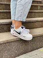 Белые кроссовки Nike Air Force 1 Low TM White (Найк Аир Форс низкие женские и мужские размеры) 36-45