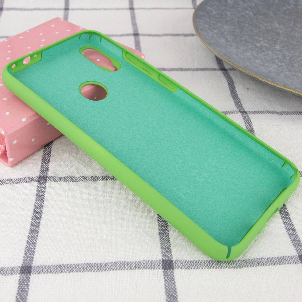 Чехол Silicone Cover Full Protective для Xiaomi Redmi Note 7 Зеленый