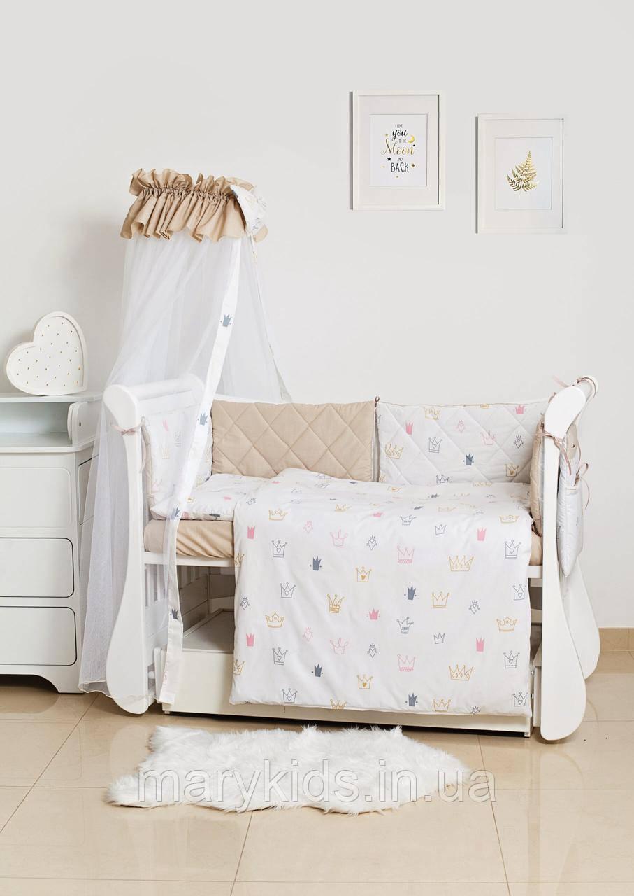Дитяче ліжко Twins Premium Glamour 4029-TG-08B Royal Pink 8 елементів