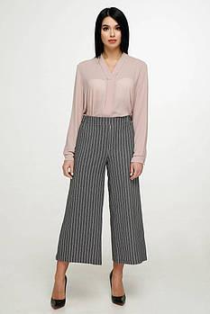 / Размер 44,46,48 / Женские трикотажные брюки-кюлоты Б-2007 / цвет серый
