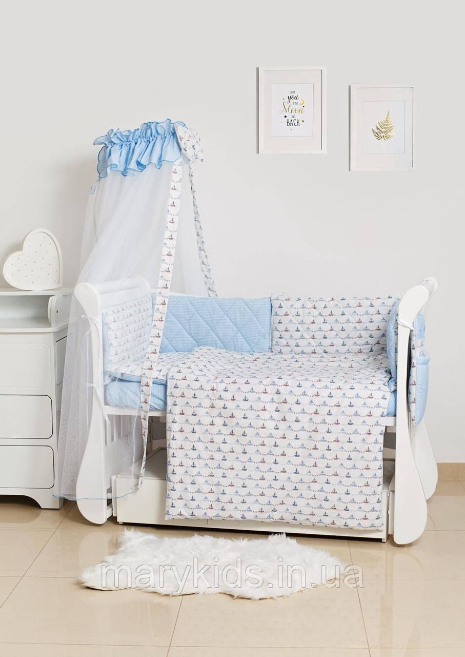 Детская постель Twins Premium Glamour 4029-TG-09S Sea Trip 8 элементов