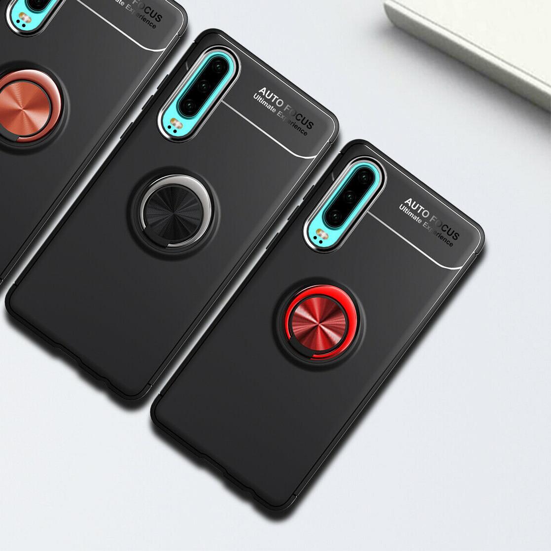 Чехлы для Huawei Deen ColorRing под магнитный держатель P30 Черный