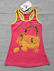 Детское летнее трикотажное платье-боксерка малиновое (С`est la Vie, Венгрия)