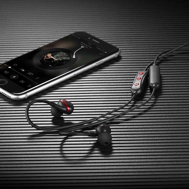 Беспроводные наушники и гарнитуры. Hoco ES19 Joy Sound Sports Черный Bluetooth Шумоподавление