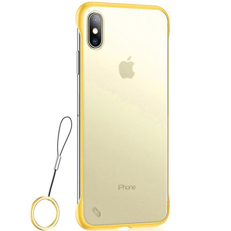 TPU+PC чехол Daddario Edge для Apple iPhone XS Max Желтый Чехлы Накладка