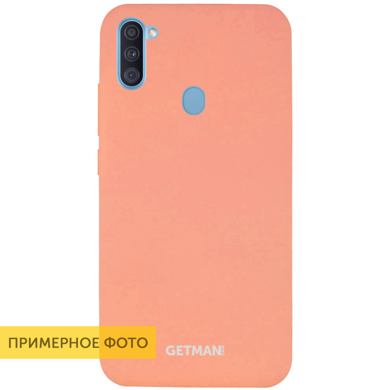 Чехол Silicone Case GETMAN for Magnet для Apple iPhone 11 Pro Max Розовый