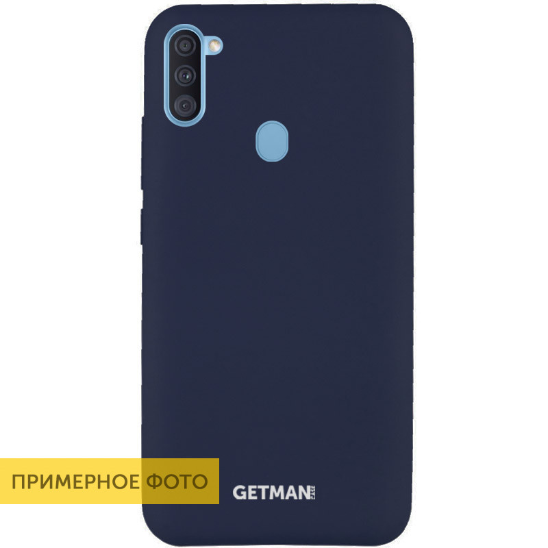 Чехол Silicone Case GETMAN for Magnet для Apple iPhone 11 Pro Max Синий