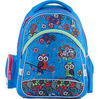 Рюкзак (ранец) школьный для девочек Kite Pretty owls K18-521S-1 голубой