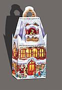 Новогодняя картонная упаковка Дом эльфов, на вес до 1000г, от 1 штуки