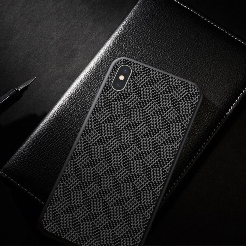 Чехол Nillkin Tempered Plaid Case для Apple iPhone X Черный Чехлы