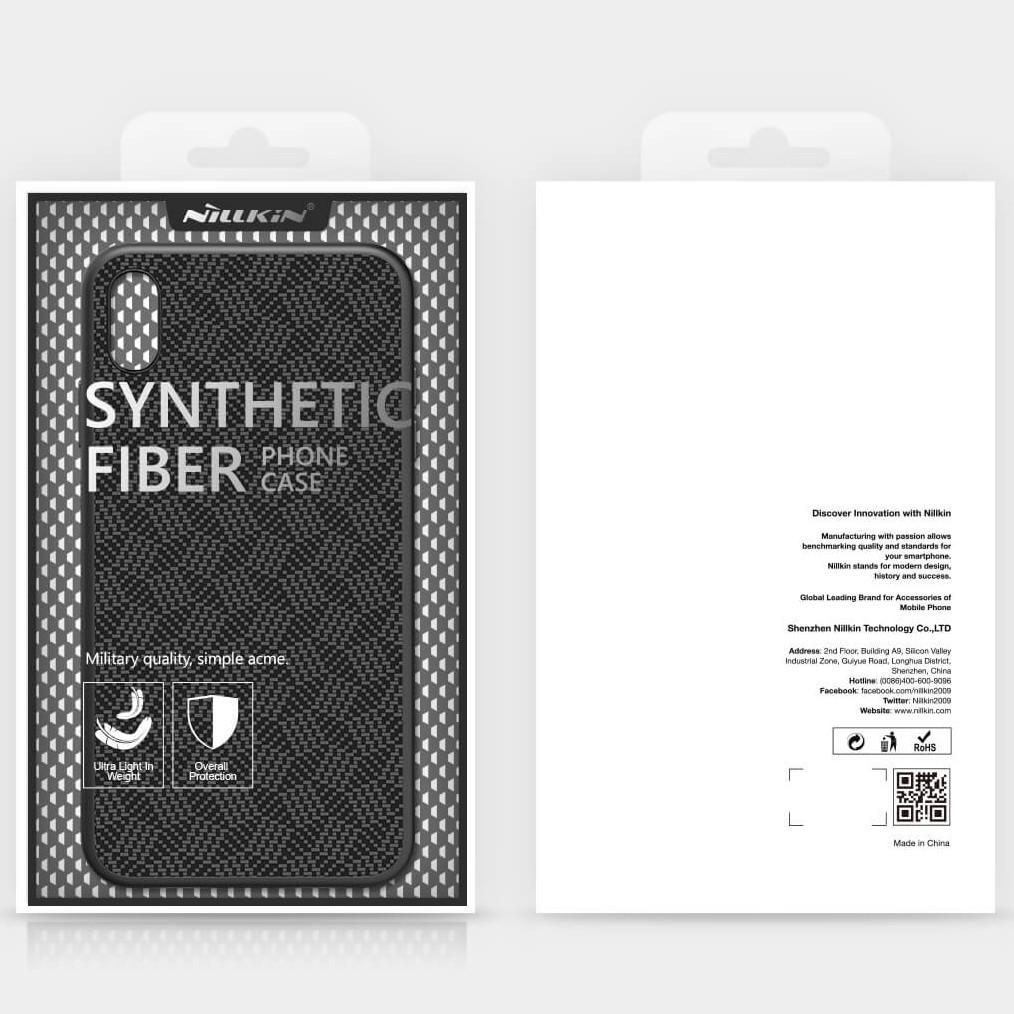 Чехол Nillkin Tempered Plaid Case для Apple iPhone X Черный Чехлы Стеклянная поверхность