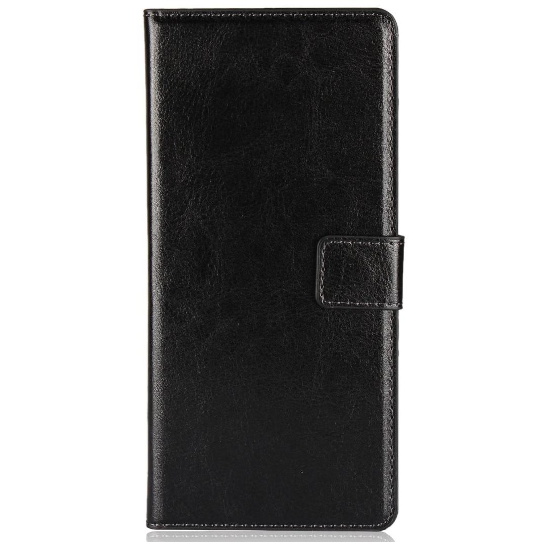 Чехол Wallet Glossy с визитницей для Samsung A750 Galaxy A7 (A750) 2018 Черный Искусственная кожа