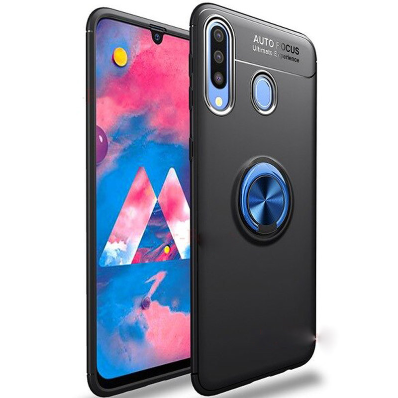 Deen ColorRing под магнитный держатель для Samsung Galaxy A20s Черный
