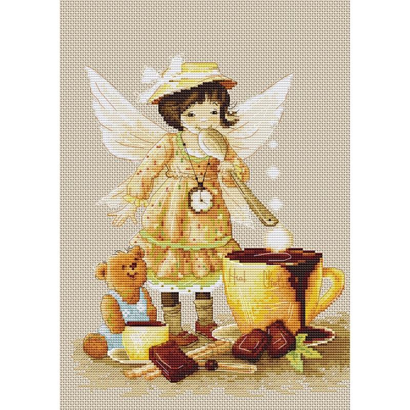 Наборы для вышивания крестом Luca S Детское Горячий шоколад