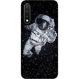 Чехол силиконовый с картинкой для Vivo Y19 Космонавт