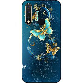 Чехол силиконовый с картинкой для Vivo Y19 Красивые бабочки