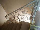 Кованое ограждение для лестницы в стиле модерн, фото 4