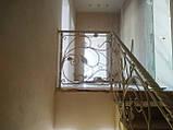 Кованое ограждение для лестницы в стиле модерн, фото 6