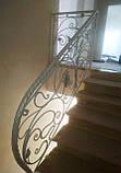 Кованое ограждение для лестницы в стиле модерн, фото 7