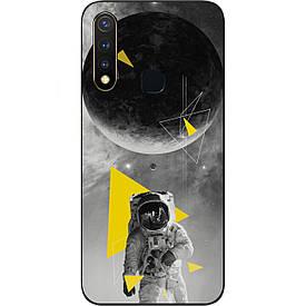 Чехол силиконовый с картинкой для Vivo Y19 Астронавт