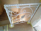 Кованое ограждение для лестницы в стиле модерн, фото 8