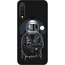 Чехол силиконовый с картинкой для Vivo Y19 Космонавт и луна