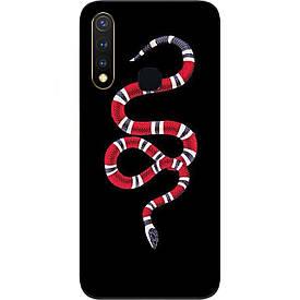 Чехол с картинкой силиконовый для Vivo Y19 Змея
