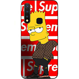Чехол с картинкой силиконовый для Vivo Y19 Барт Симпсон